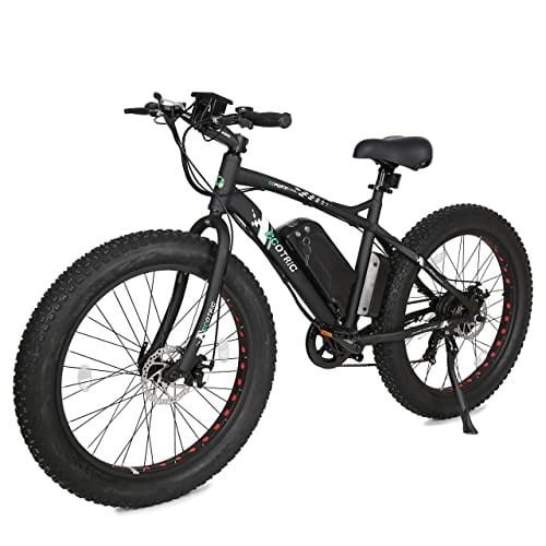"""ECOTRIC 26"""" Fat Bike Tire Wheel Men Snow Beach Mountain Electric Bicycle 500W Electric Mope, best electric mountain bikes under 2000"""