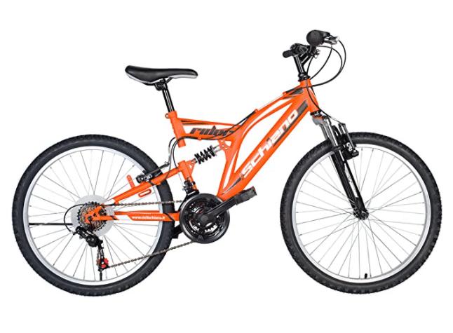 F.Lli Schiano Rider Shimano Bike Full Suspension 18 V Orange White 26