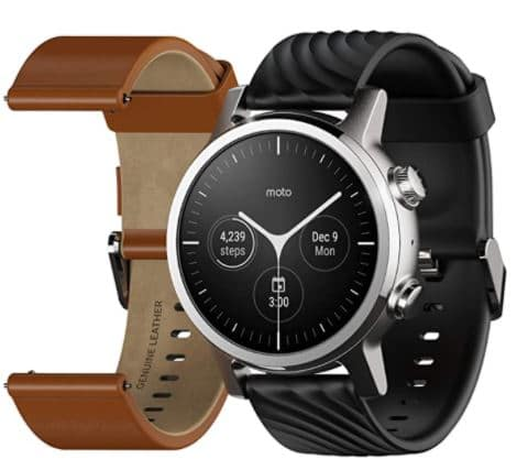 Motorola - Moto 360 3rd Gen 2020 - The Luxury Stainless Steel Smartwatch - Wear OS by Google, Top 10 Best Smartwatches for Texting
