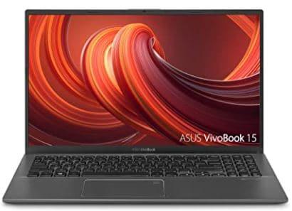 "ASUS F512DA-EB51 VivoBook 15 Thin And Light Laptop, 15.6"" Full HD, AMD Quad Core R5-3500U CPU, 8GB DDR4 RAM, 256GB PCIe SSD, AMD Radeon Vega 8 Graphics, Windows 10 Home, Slate Gray"