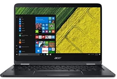 """Acer Spin 7, 14"""" Full HD Touch, 7th Gen Intel Core i7, 8GB LPDDR3, 256GB SSD, Windows 10, Convertible, SP714-51-M4YD"""