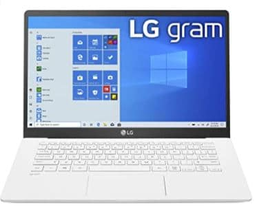 LG Gram Laptop 14Inch Full HD IPS Display, Intel 10th Gen Core i51035G7 CPU, 8GB RAM, 256GB M.2 NVMe SSD