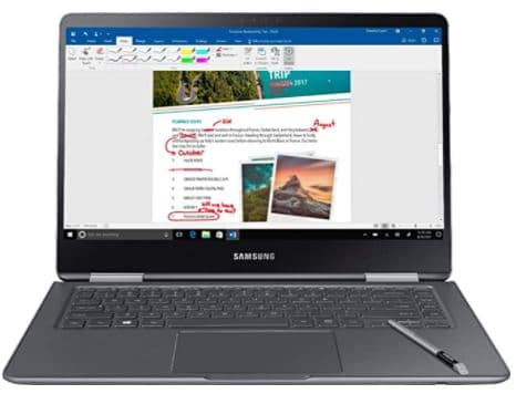 Samsung Notebook 9 Pro NP940X5N-X01US 15 inch FHD 2-in-1 Touch Screen Laptop, 8th Gen Intel Quad-Core i7-8550U Up To 4GHz, 16GB DDR4, 256GB SSD, Backlit Keyboard, Windows 10, Built-in S Pen, Titan Silver