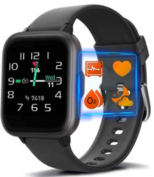 MorePro Smart Watch with 18 Sport Modes Blood Oxygen Heart Rate Monitor