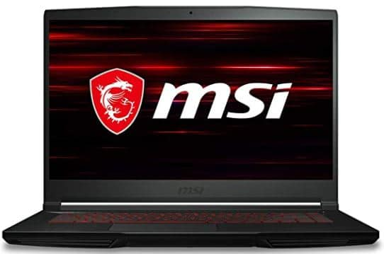 "MSI GF63 Thin 9RCX -615 15.6"" Gaming Laptop, Intel Core i5-9300H, NVIDIA GTX 1050Ti, 8GB, 512GB NVMe SSD, Win10"