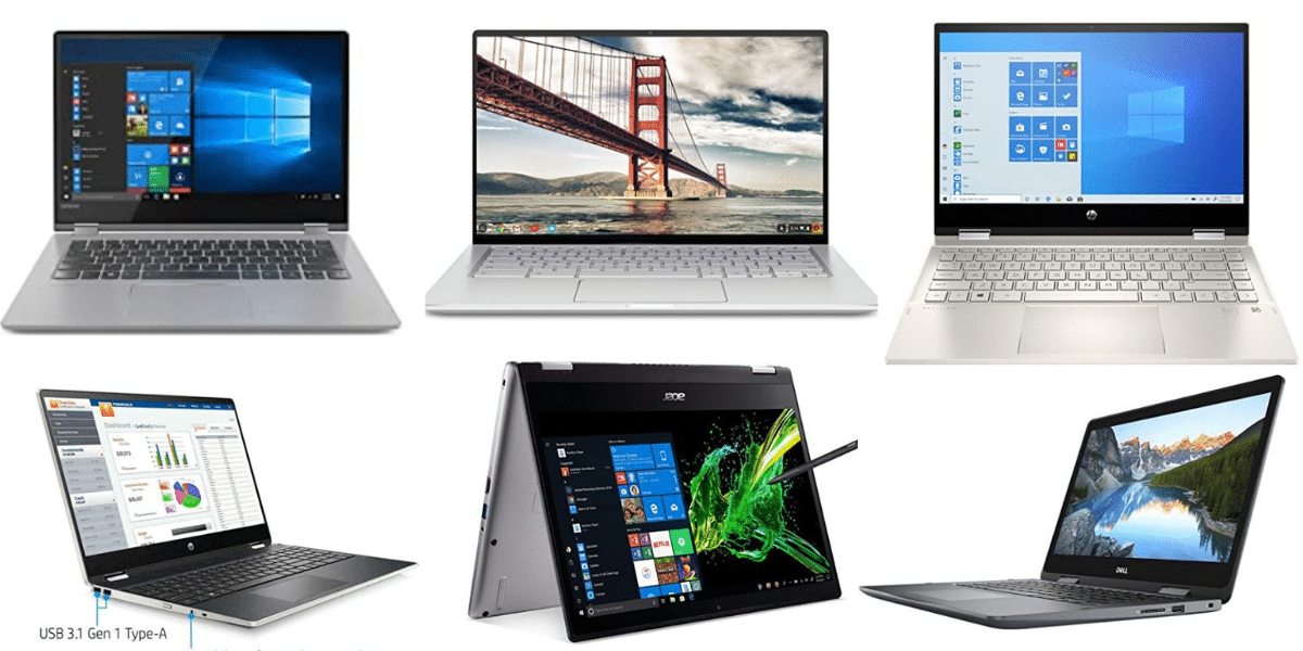 Top 10 convertible Best 2 in 1 laptop under $500, $600, $700 and $800