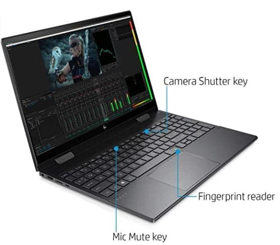 HP Envy X360 2-in-1 15.6 Inch FHD Touchscreen Laptop Bundle Woov Sleeve, AMD Six-Core Ryzen 5 4500U (Beat i7-7500U), 8GB RAM, 256GB PCIe SSD, Backlit Keyboard, Fingerprint Reader, USB-C, Windows 10