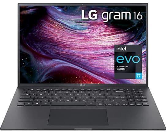 LG Gram 16Z90P - 16-inch WGXGA (2560x1600) Ultra-Lightweight Laptop, Intel evo with 11th gen CORE i7 1165G7 CPU , 16GB RAM, 1TB SSD, Alexa Built-in, 19.5 Hours Battery, Thunderbolt 4, Black - 2021